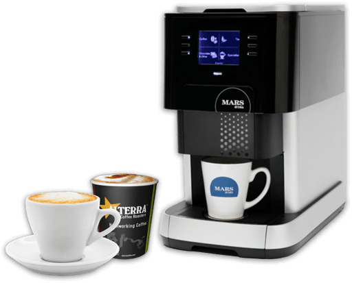 Picture of Flavia 500 Coffee Machine and cups