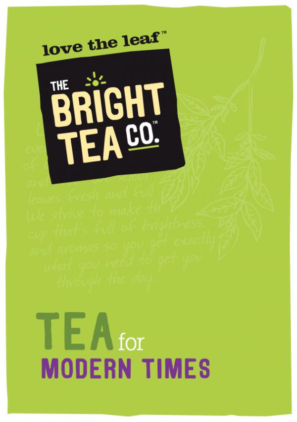 bright tea brochure cover