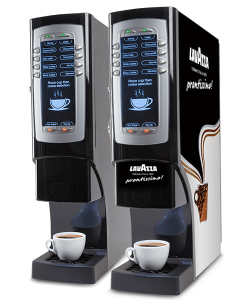 Picture of two Lavazza coffee machines