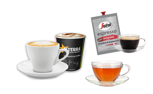 picture of coffee cups and segafrado sachet