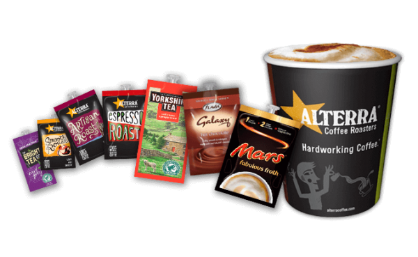 picture of product sachets and cup