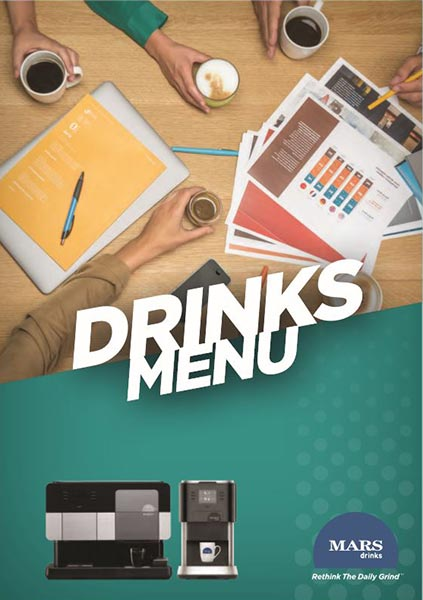 Picture of Mars drinks menu cover