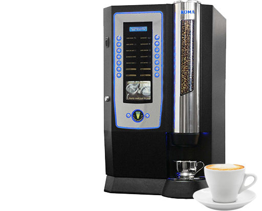 Roma coffee machine and cup