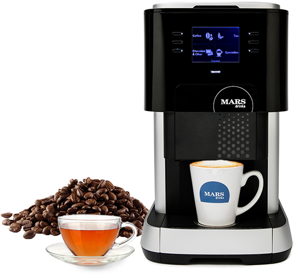 Picture of Flavia 500, coffee beans and tea cup