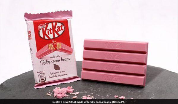 Ruby Pink KitKat Image