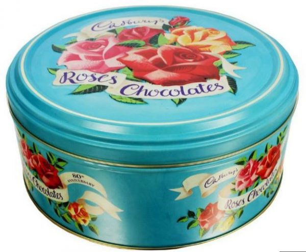 Cadbury's Roses Chocolates 80th Anniversary Tin. Image