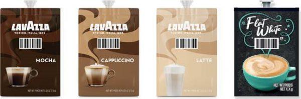 Showing the Lavazza Indulgence range pack images